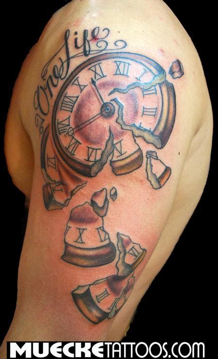 tattoos about time time crumbles by george muecke tattoos