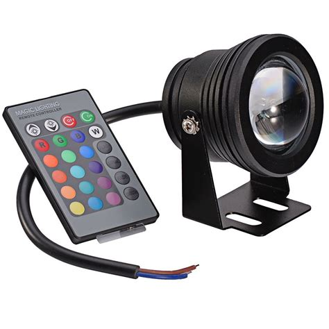 Remote 10w 12v Memory Function Rgb Multi Color Waterproof Multi Color Led Outdoor Lights