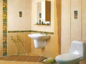 Vintage yellow bathroom tile