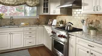 Colonial white granite white cabinets backsplash ideas
