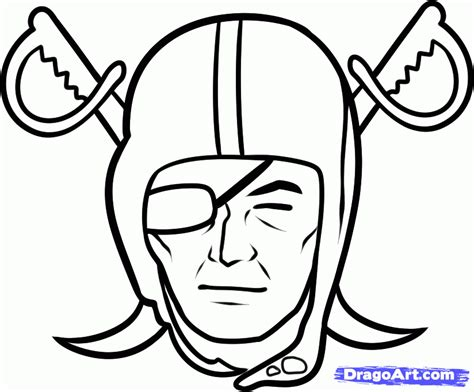 nfl symbols coloring pages how to draw the raiders oakland raiders step by step