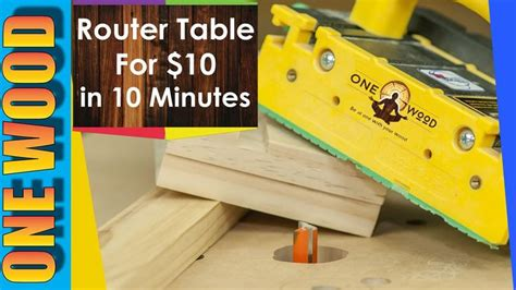 build  router table  woodworking