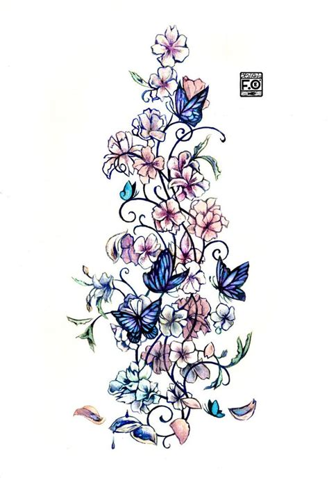 Blumen Und Sterne by Best 25 Flower And Butterfly Tattoos Ideas On