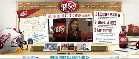 Dr Pepper Sweepstakes - dr pepper to give away 1 million in college tuition this football season popsop