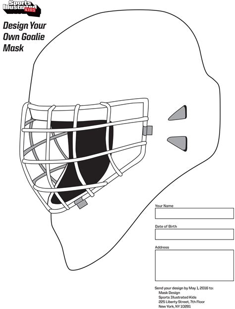 design a goalie mask si kids
