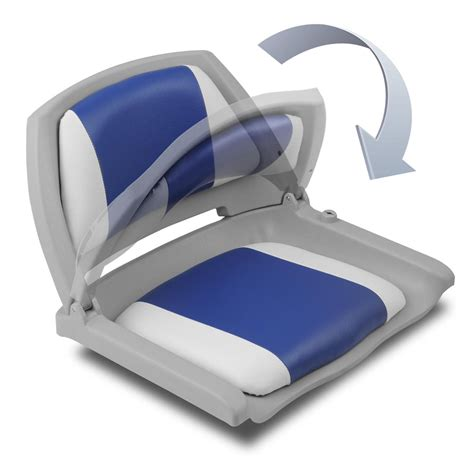 boat sets set of 2 swivel folding marine boat seats grey blue