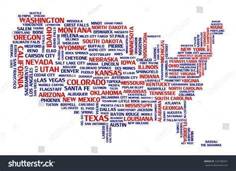 usa capital city map united states america city map tag stock vector 224708341