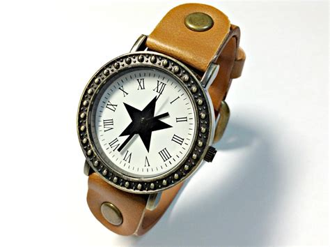 Handmade Leather Watches - handmade vintage leather band watches