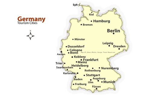 tourist map germany german cities map best places to visit in germany