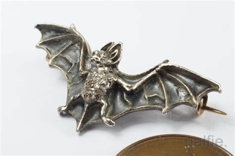 Batwing List Gold beautiful antique silver gold plique 192 jour enamel bat brooch c1900 ebay