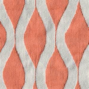coral colored rugs squiggle coral rug by pop accents rosenberryrooms