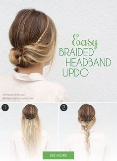 headband styler tutorial 1000 ideas about quick easy updo on pinterest easy updo