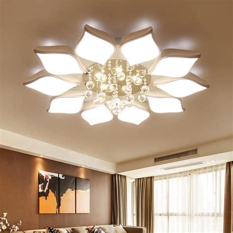modern crystal ceiling ls crystal modern led ceiling lights for living room bedroom