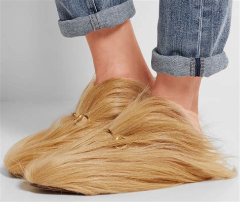 Flatshoes Loafers Gucci Milan Slip On Gucci Slippers gucci released 163 1367 slippers made out of hair and no