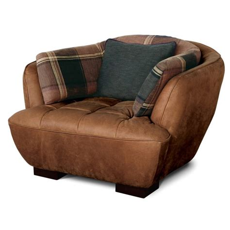 Fancy Leather Chair by Fancy Single Leather Sofa With Fabric Cushion