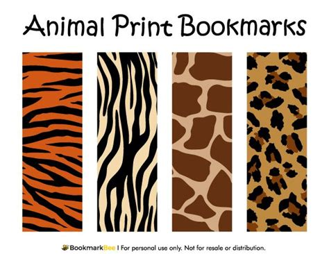 printable animal bookmarks free printable animal print bookmarks the patterns