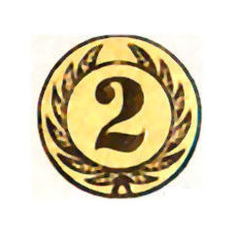 Emblem Plat D emblem d 50mm neutral nr 2 erster platz gosling pokale
