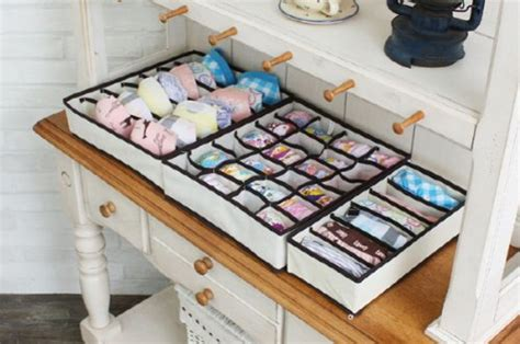 best clothing drawer organizers sorbus set of 4 foldable drawer dividers storage boxes