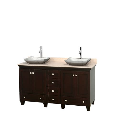 60 Inch Bath Vanity Wyndham Collection Wcv800060desivgs3mxx Acclaim 60 Inch Bathroom Vanity In Espresso