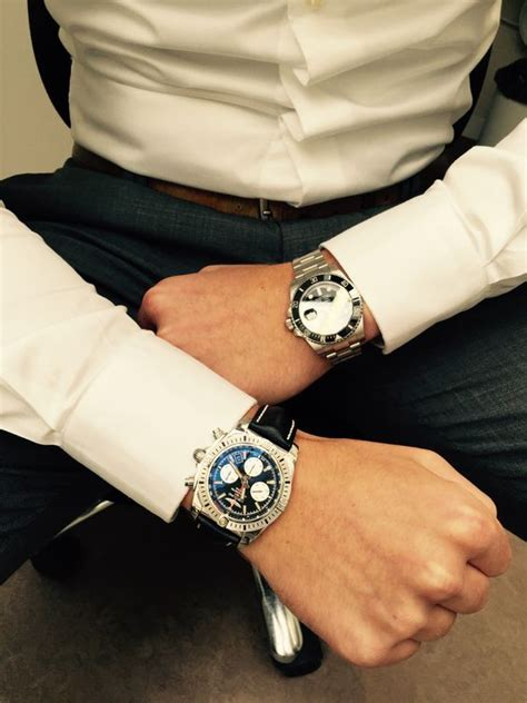 breitling chronomat 44 airborne and rolex submariner date breitling watches