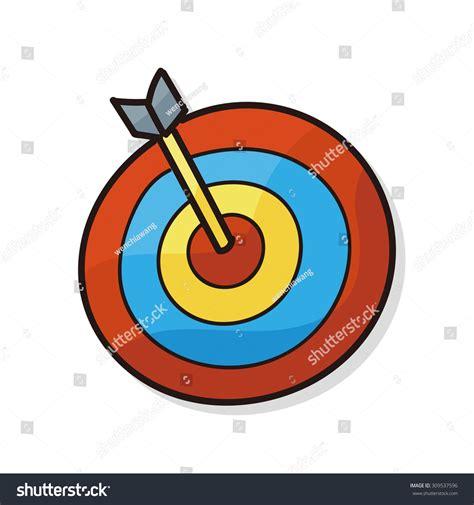 archery doodle archery doodle stock vector 309537596