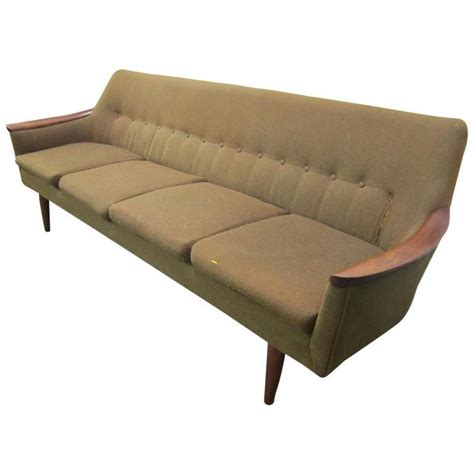 danish modern sofa for sale nanna ditzel style four seat sculptural teak sofa mid