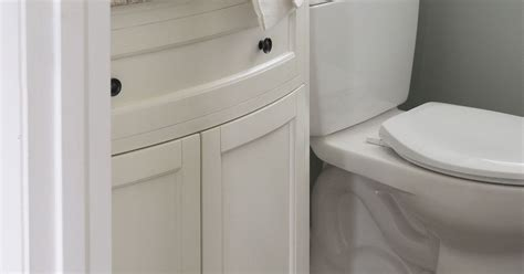 half size bathtub from dreary to dreamy our half bath overhaul hometalk