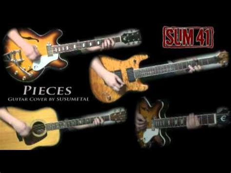 sum 41 pieces testo sum 41 pieces guitar cover electric acoustic