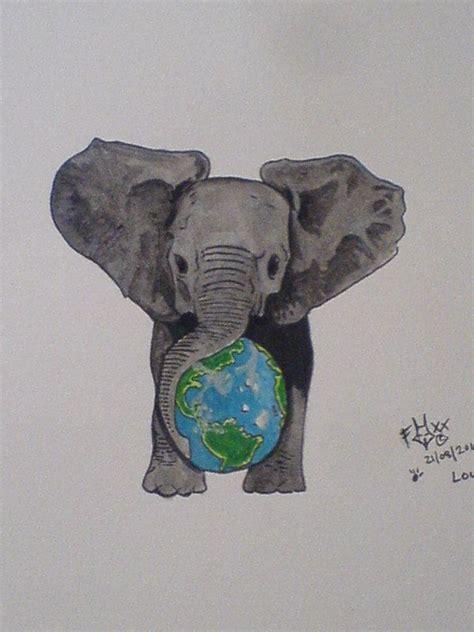 animal earth tattoo best 25 elephant tattoo design ideas on pinterest
