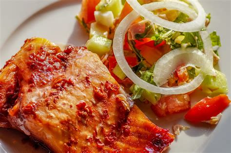 light foods to eat salmon fish salad eat light 183 free photo on pixabay