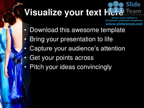 Fashion Show Events Power Point Templates Themes And Fashion Show Ppt Templates Free