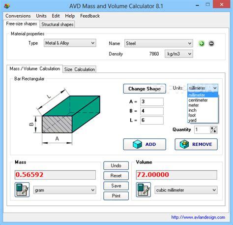 calculator volume avd weight and volume calculator 6 1 stabutdentua s diary