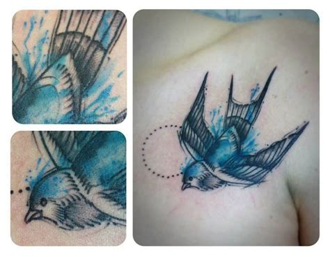 watercolor tattoo el paso el cuervo bluebird school watercolor
