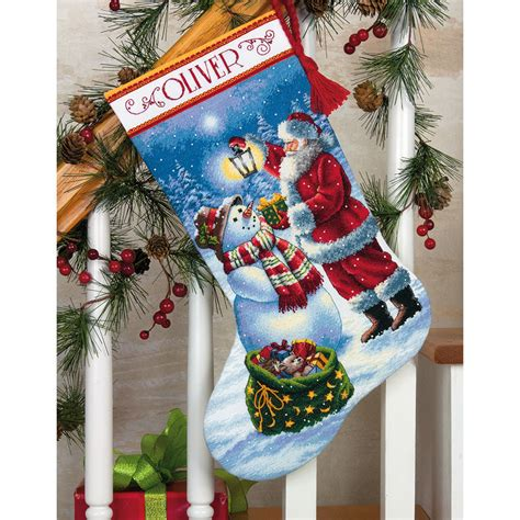 simplicity pattern for christmas stocking holiday glow stocking counted cross stitch 70 08952
