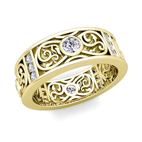 celtic knot wedding band ring for in 14k gold