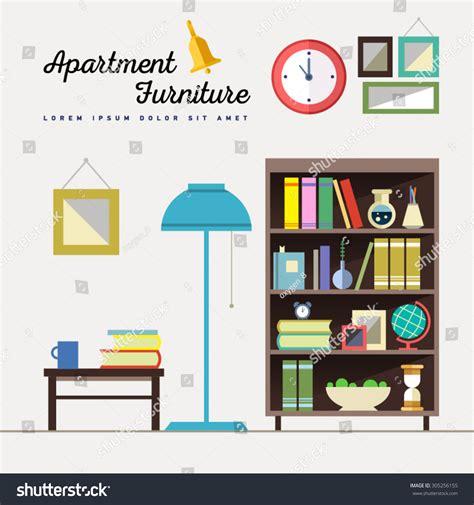 design elements for home home furniture interior design set elements stock vector