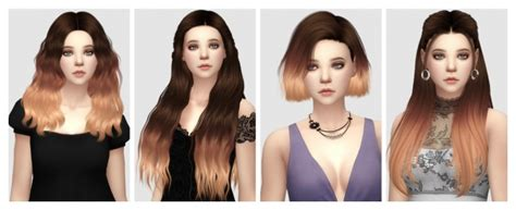 sims 4 ombre hair ombre hair add on versions at aveira sims 4 187 sims 4 updates