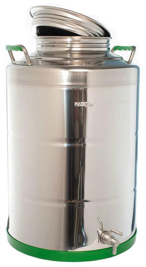 contenitori con rubinetto contenitore saldato 50lt in acciaio con rubinetto e