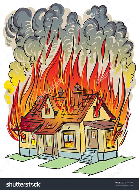 black lady house on fire a house on fire clipart clipartxtras