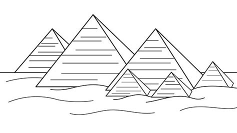 pyramid coloring pages