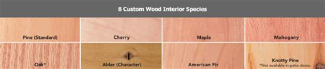Interior Species by Wood Types Stain Colors Illinois Energy Windows Siding