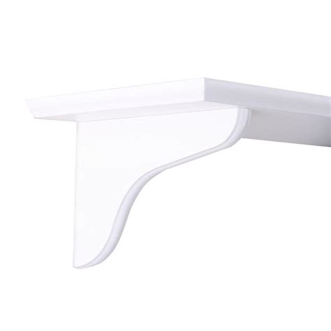 knape vogt 9 in white wood decorative shelf corbel 0138