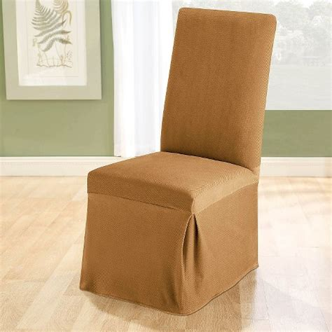 Sure Fit Stretch Pique Shorty Dining Room Chair Slipcover by Sure Fit Stretch Pique Shorty Dining Room Chair Slipcover