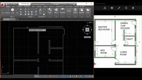 Autocad Interior by How To Draw A Floor Plan In Autocad Interior Design Tamil