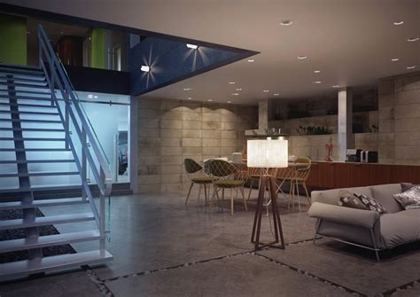 design elements space architectural concept of a glass box home