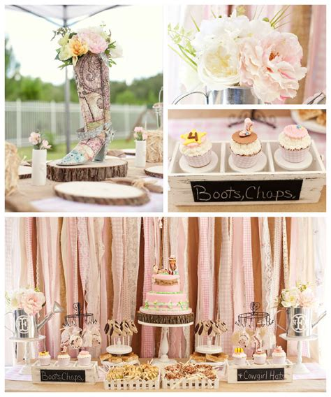 kara s party ideas shabby chic cowgirl birthday party via