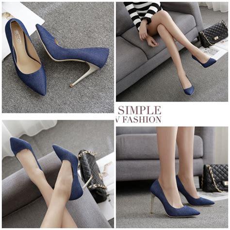 Sepatu Wedges Wanita 10cm On04 jual shh20032 blue sepatu heels pesta wanita 10cm