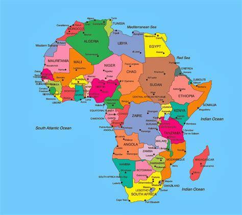 lafrica mappa mappa africa politica