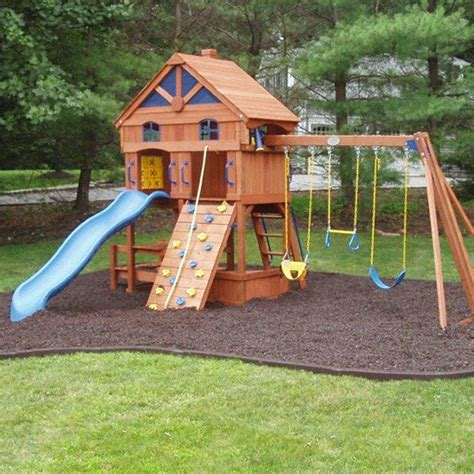 backyard playground mulch texaskiddiecushion