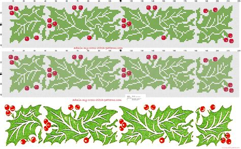 christmas pattern border cross stitch on pinterest